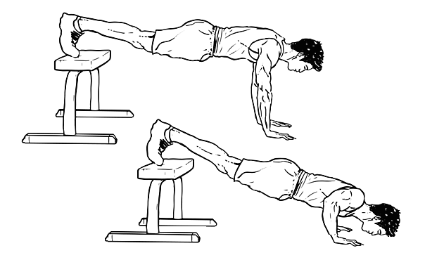 decline pushup exercise