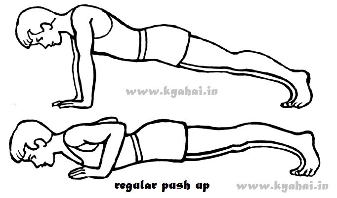 regular Push up exercise