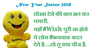 New Year Attitude status for Facebook Whatsapp 2018