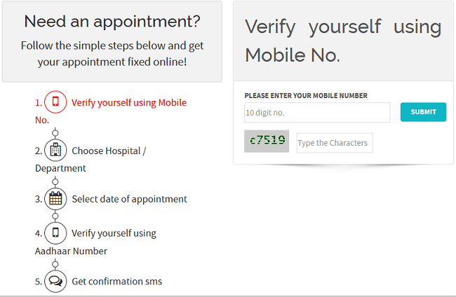 Hospital me online appointment booking